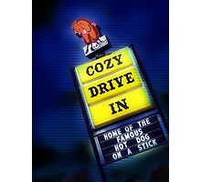 cozy drive in, route 66 Photographic Print