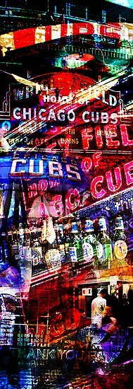 chicago cubs montage by brian gregory