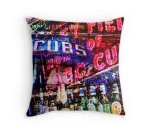 chicago cubs montage Throw Pillow