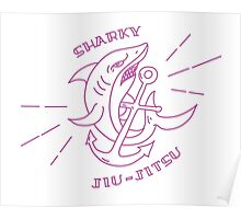 Sharky Jiu-jitsu Poster