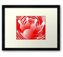 Digital painting of bowling pins  Framed Print