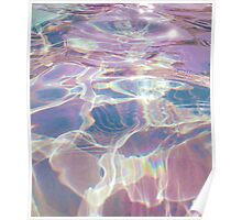 pastel aesthetic water waves Poster