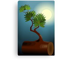 Digital painting of a tree in sunset Canvas Print