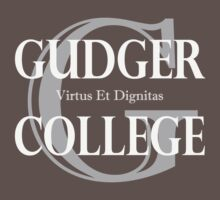 Gudger College (White & Light Grey text) Kids Tee