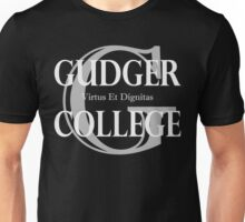 Gudger College (White & Light Grey text) Unisex T-Shirt