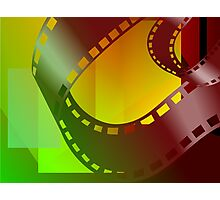 Clip art of film  roll Photographic Print