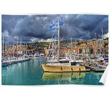 Genoa Old Port Poster