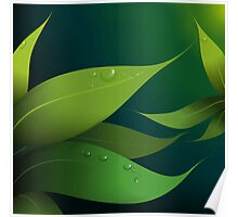 Greenly leaves Poster
