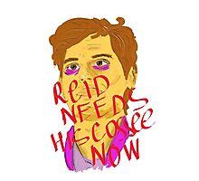 Reid needs his coffee Photographic Print