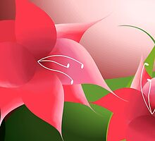 Admirable beauty of red flowers by tillydesign