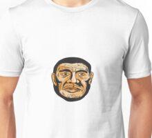 Neanderthal Man Head Etching Unisex T-Shirt