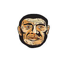 Neanderthal Man Head Etching Photographic Print