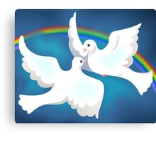 Symbol of love and peace Canvas Print