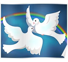 Symbol of love and peace	 Poster
