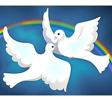 Symbol of love and peace Photographic Print