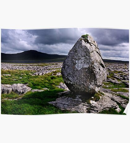 Ingleborough from Twisleton Scar - The Yorkshire Dales Poster