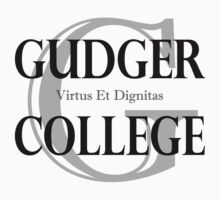Gudger College (Black & Dark Grey text) Kids Tee