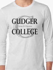 Gudger College (Black & Dark Grey text) Long Sleeve T-Shirt