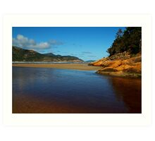 Tidal River Meets the Sea,Wilsons Prom Art Print