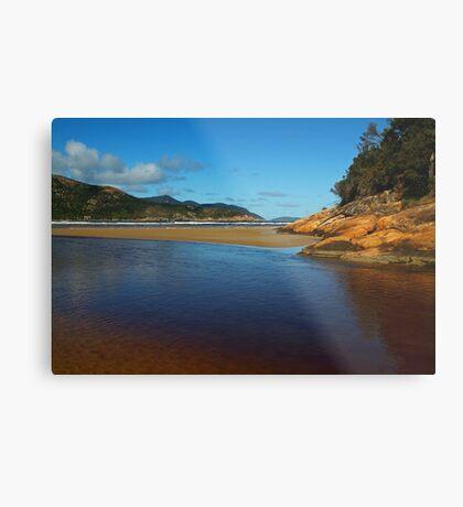 Tidal River Meets the Sea,Wilsons Prom Metal Print