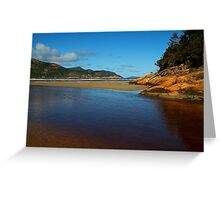 Tidal River Meets the Sea,Wilsons Prom Greeting Card