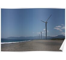 Philippine Windmill  - Landscape of Energy Poster