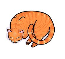 Sleeping Cat - Ginger by goatsy