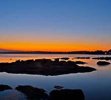 Tuggerah Lake. Sunset,,24-9-2010,Australia. by Warren  Patten