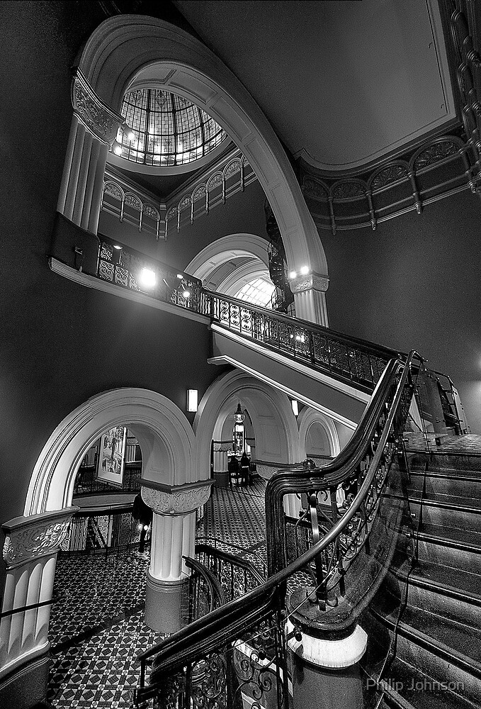 Staircase Addiction  #3 - QVB  Sydney - The HDR Experience by Philip Johnson
