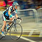 Speedy cyclist @ Warwick Cycle races by Shehan Fernando