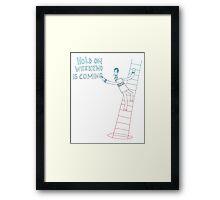 Weekend Hero Framed Print