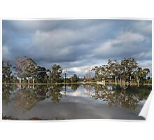 Wintery Reflections Poster