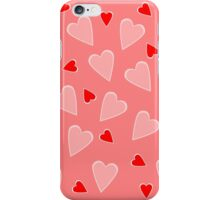 Pink & Red Hearts iPhone Case/Skin