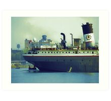 Great Lakes Freighter - Mississagi Art Print
