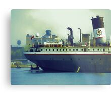 Great Lakes Freighter - Mississagi Metal Print