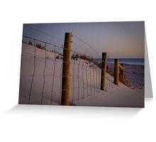 The old fenceline - Ocean Reef, Perth, Western Australia Greeting Card