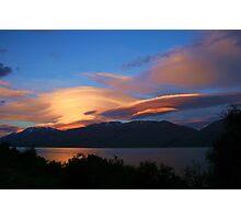 """layers"" lake ohau, south island, new zealand Photographic Print"