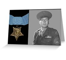 John Basilone and The Medal of Honor  Greeting Card