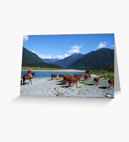 """going home""  mahitahi river, south westland, nz Greeting Card"