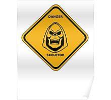 SKELETOR DANGER SIGN Poster