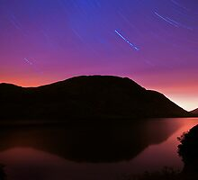 Buttermere Star Trails One Hour Exposure  by johnfinney