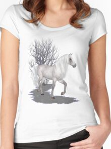 Moonglow .. appaloosa stallion Women's Fitted Scoop T-Shirt