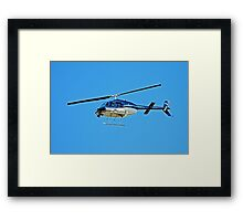 Smithsonian Channel's Camera Helicopter Framed Print
