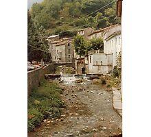 Italian Village on the River. Photographic Print