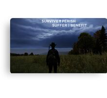 Survival Poster Canvas Print