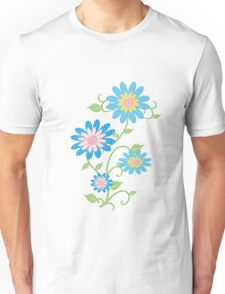 Fabric Flowers Unisex T-Shirt
