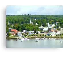 Typical New England Town Canvas Print