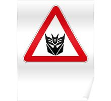 DECEPTICONS - WARNING SIGN Poster