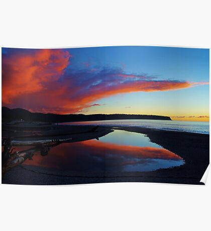 """""""red""""     bruce bay, south westland, new zealand Poster"""