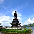 Ulundanu Temple, the floating temple at Bedugul, Bali by Karen Stackpole